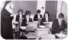 Flashback Friday: SJHS students practicing their typing skills.