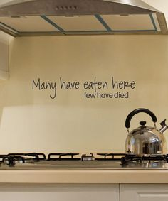 Take a look at this 'Many Have Eaten Here' Wall Decal by Wallquotes.com by Belvedere Designs on #zulily today!