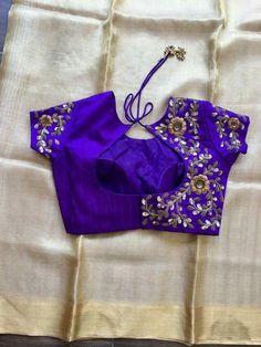 Purple floral pattern hand zardosi work Designer wedding saree lehenga blouses To inquire whatsapp 918888328116 or ethnicdiagmailcom Pattu Saree Blouse Designs, Fancy Blouse Designs, Bridal Blouse Designs, Stylish Blouse Design, Trendy Sarees, Work Blouse, Lehenga, Anarkali, Zardosi Work