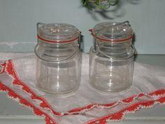 Vintage Mason Jar Salt & Pepper Shaker Set  Retro by Fannypippin,