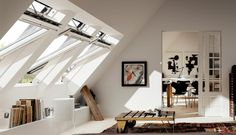 Convert you loft using Velux windows to flood the space with daylight and create Scandinavian interiors with minimal monochrome decor VELUX loft conversion, VELUX roof windows, INTEGRA, daylight, loft conversion ideas Velux Window Sizes, Roof Window, Loft Conversion Gallery, Attic Conversion, Loft Conversions, Patio Gazebo, Patio Roof, Rustic Pergola, Small Pergola