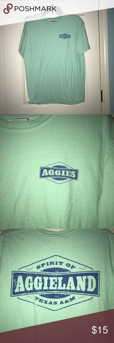 Texas A&M comfort colors shirt Medium seafoam comfort colors shirt. Aggieland. Bought at A&M warehouse in CSTAT. Texas A&M Tops