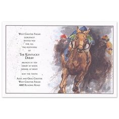 Personalize your Kentucky Derby Invitation | Kickin' Dirt Invitations - Odd Balls (#3294) |  FineStationery.com