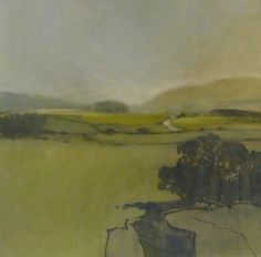Norma Stephenson: Across Clapham Moss oil on canvas board Pastel Landscape, Abstract Landscape Painting, Seascape Paintings, Contemporary Landscape, Landscape Art, Landscape Paintings, Abstract Art, Art Paintings, Love Painting