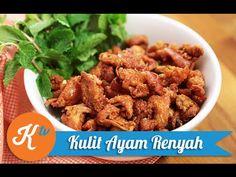 Resep Kulit Ayam Goreng Renyah (Crispy Chicken Skin Recipe Video) - YouTube Crispy Chicken Skin Recipe, Skin Food, Indonesian Food, Food Videos, Almond, Cooking Recipes, Snacks, Youtube, Tv