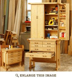 Tool Chest, Cabinet Woodworking Plan, Shop Project Plan | WOOD Store - Plan purchase $8.95 but I like this one.