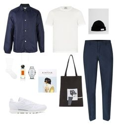 """Untitled #41"" by rayensulistiawan on Polyvore featuring Comme des Garçons, Acne Studios, Topman, adidas Originals, DRKSHDW, Reebok, Pantherella, Hermès, Movado and men's fashion"