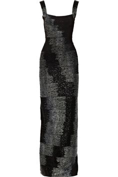 Beaded bandage gown by Hervé Léger