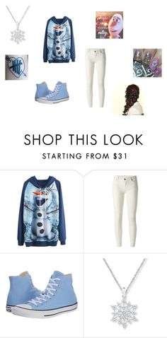 """""""Some People Are Worth Melting For"""" by mdeek on Polyvore featuring 7 For All Mankind, Converse and Disney"""