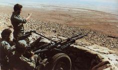 Moroccan ZPU-2 position, Western Sahara War.