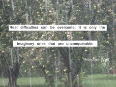 Great quote about difficulties from Theodore Vail!