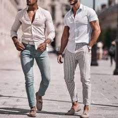 outfit men Left or Right? Blue Blazer Outfit, Blazer Outfits Men, Casual Outfits, Summer Club Outfits, Summer Fashion Outfits, Casual Wear For Men, Moda Casual, Look Cool, Mens Clothing Styles