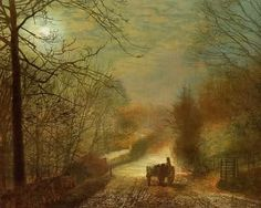 Forge Valley,by John Atkinson Grimshaw