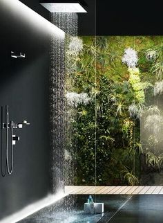 tropical rain shower head. 30 Ultra Luxury Bathroom Ideas With Extraordinary Views http walkinshowers org 6 incredible rainfall shower head examples