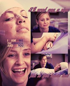 I am me the universe and calzona feels.
