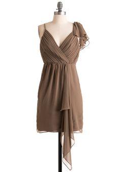 Humming in Hazelnut Dress (but I wish it was silk!)