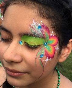 #flower #eye #design #sorbet #custom #1stroke #OneStroke #FacepaintMall #theclassyclown #chicagoFacePainter #midwestfunfactory