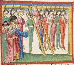 Bibel AT, dt.: Könige, Paralipomenon I und II, Esra, Tobias, Judith, Esther, Hiob — Stuttgart (?) -  Werkstatt Ludwig Henfflin, 1477 Cod. Pal. germ. 17 Folio 269r