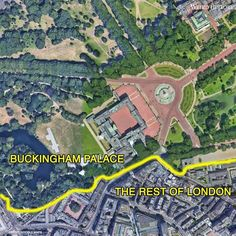 Earth View, Buckingham Palace, City Photo, London, Map, History, Historia, Location Map, Maps