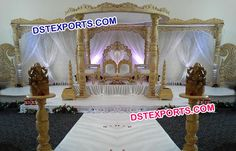 #Royal #Indian #Hand #Carved #Wooden #Mandap #Dstexports