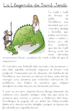 Recursos didácticos para la etapa de Educación Infantil: La Leyenda de San Jorge/La Llegenda de Sant Jordi English Activities, Activities For Kids, Saint George And The Dragon, Medieval, Saints, Barcelona, Language, Teaching, Children