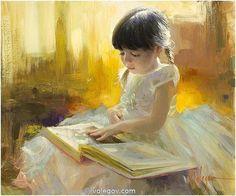 Vladimir Volegov 79. Girl Reading (2012) *SOLD* http://www.volegov.com/girl-reading-painting/