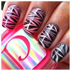 Nail designs is A warming element Nail Art 2014, New Nail Art, Nail Polish Designs, Cool Nail Designs, Love Nails, Pretty Nails, Tie Dye Nails, Striped Nails, Dry Nails