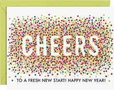 Confetti Cheers A2 New Year Cards