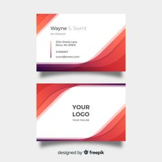 Abstract gradient visiting card template Free Vector Visiting Card Templates, Company Letterhead, Card Designs, Art Director, Business Card Design, Vector Free, Abstract, Cards, Summary