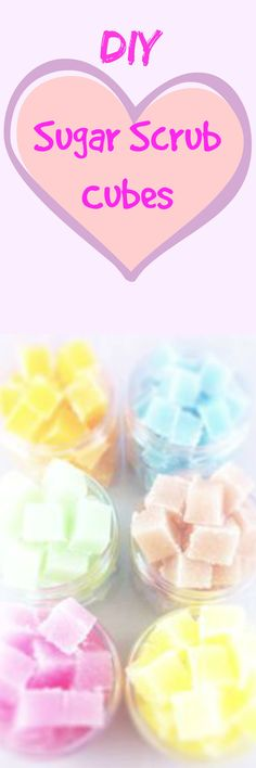 Learn how to make your own sugar scrub cubes! So fast and easy!