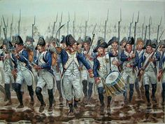 French troops advance at Austerlitz