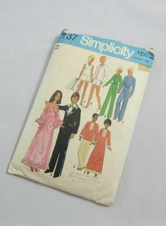 Doll Clothes 70s Sewing Pattern for Barbie by VintageSouthernPicks