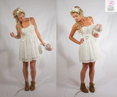 Lace Baby Doll, Short Wedding Dress - available from The Love Bucket on Etsy. https://www.etsy.com/shop/TheLoveBucketSA