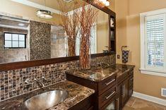 "BH&G Kitchen and Bath Ideas magazine features Witt-built ""tropical"" master bath. Wet Room Bathroom, Master Bathroom Vanity, Small Space Bathroom, Budget Bathroom, Bathroom Renovations, Bathroom Ideas, Bath Ideas, Bathroom Stuff, Bathroom Designs"