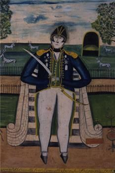 """Admiral Lord Exmouth"" from the British Folk Art collection at Compton Verney"