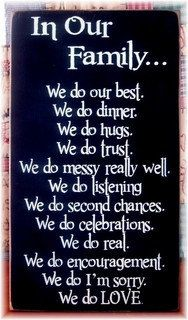 In Our Family We DoFamily motto rules by pattisprimitives on Etsy, $30.00