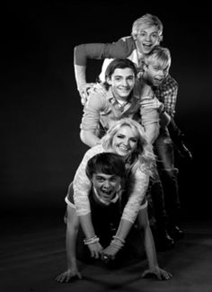 R5 being the awesome, goofy selves :) That's why I love them, they're so weird. lol