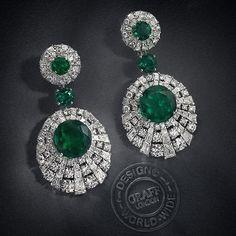 Vir Jewels cttw Certified Diamond Stud Earrings White Gold with Screw Backs – Fine Jewelry & Collectibles Emerald Earrings, Emerald Jewelry, Diamond Jewelry, Drop Earrings, Silver Earrings, Emerald Gemstone, Graff Jewelry, Luxury Jewelry, Saphir Rose