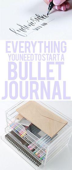 bullet journal supplies, start a bullet journal - everything you need to start a journal