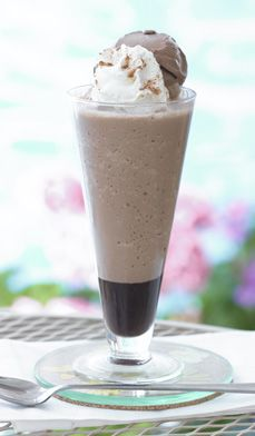 Chocolate-Almond Coffee Frappe - Why waste money buying expensive frozen coffee drinks from coffee bars when you can easily concoct your own version at home