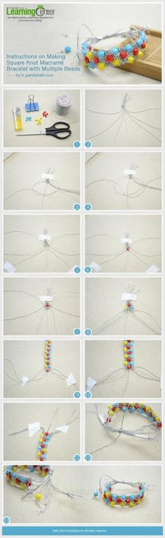 Instructions on Making Square Knot Macram�� ... | Jewelry Making Tutor�� by wanting