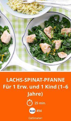 Lachs-Spinat-Pfanne - Ohne den Orangen-Weizen absolut Low-Carb.