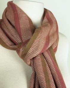 Handwoven Woodland Stripe Scarf in Camel by Loomination