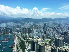 A great view over Lion Rock (獅子山) from Sky100 - Hong Kong's Observation Deck! [ Photo by Sky100 ]