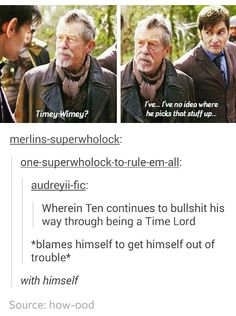 Ten Two Hearts, Time Lords, Superwholock, Got Him, Doctor Who, Mens Sunglasses, Geek Stuff, Style, Geek Things