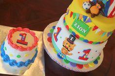 Fisher Price 1st Birthday Cake from InJoyCakes.com