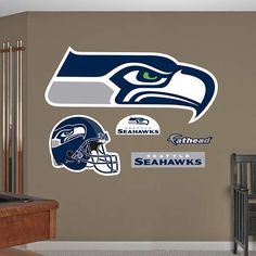 Fathead  Seattle Seahawks Logo Wall Graphic - Wall Sticker Outlet