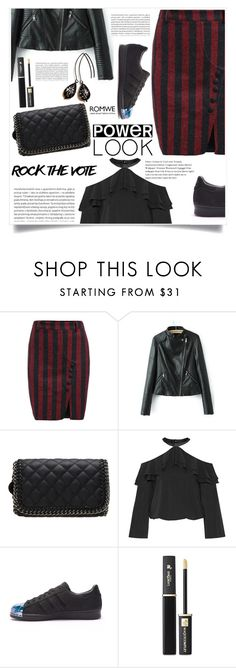 """""""Lunar Eclipse"""" by violet-peach ❤ liked on Polyvore featuring Alice + Olivia, adidas, Lancôme and Oris"""