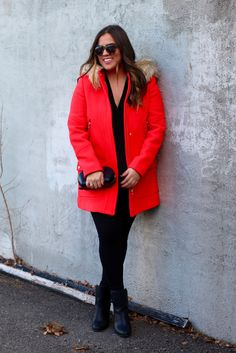 Seeing Red, Valentine's Day gift guide, J Crew Chateau Parka, Karen Walker sunglasses
