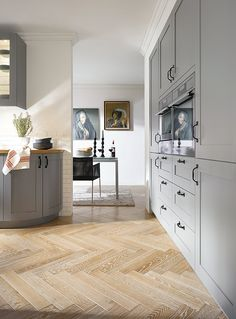 Amazing A wall of cupboards keeps appliances looking neat and tidy so you have more space to